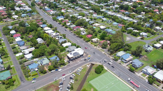 Aerial View Over Lismore, NSW, Australia