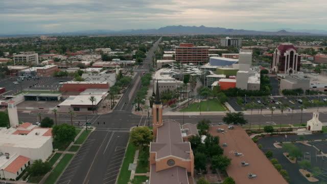 Aerial View Over Mesa Arizona st Sunset
