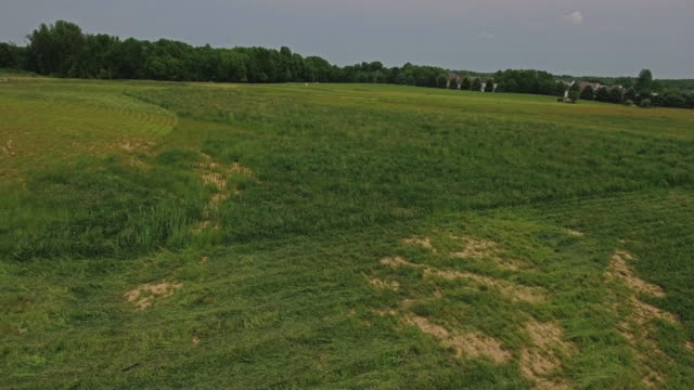 Aerial View over Ohio Open Field video
