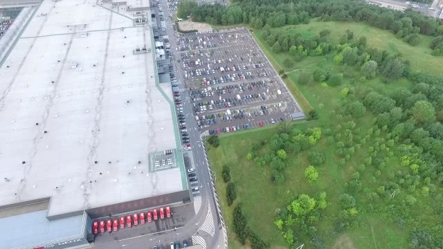 Aerial View Over Parking Near Supermarket 1 video