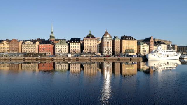 flygvy över gamla stan i stockholm - stockholm bildbanksvideor och videomaterial från bakom kulisserna