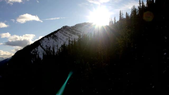 Aerial view over Sulphur mountain – BANFF video