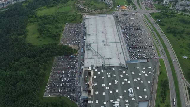 Aerial View Over Supermarket 1 video
