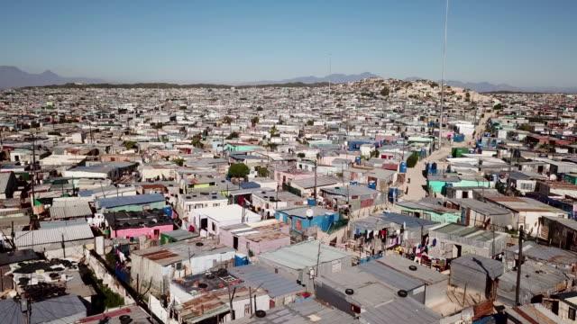 flygfoto över township i sydafrika - south africa bildbanksvideor och videomaterial från bakom kulisserna