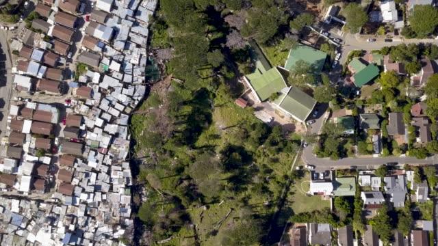 flyg utsikt över township i sydafrika - south africa bildbanksvideor och videomaterial från bakom kulisserna