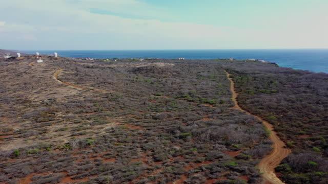 Aerial view over western tip of Curacao near Watamula - Curaçao/Caribbean /Dutch Antilles Aerial over Curacao /Caribbean /Netherland Antilles leeward dutch antilles stock videos & royalty-free footage