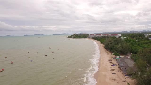 aerial view Payoon beach Rayong