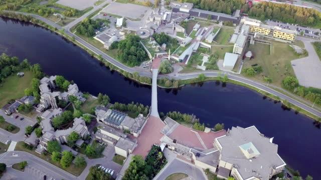 aerial view peterborough - онтарио канада стоковые видео и кадры b-roll