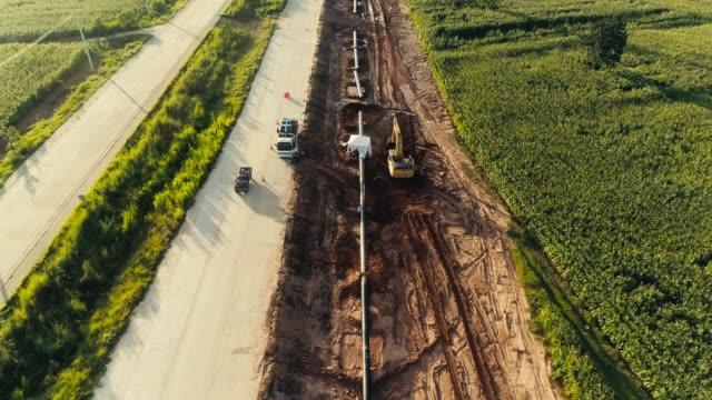 flygvy pipeline konstruktion - pipeline bildbanksvideor och videomaterial från bakom kulisserna