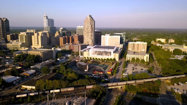 Aerial View Raleigh North Carolina Downtown City Skyline video