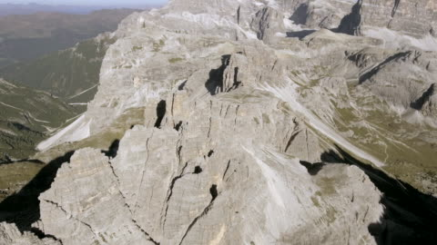 Aerial view Rock Stone Mountain 4K Resolution, Above, Adventure ,Dolimite extreme terrain stock videos & royalty-free footage