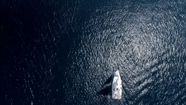 aerial view sailing yacht aerial yop view sailing yacht regatta stock videos & royalty-free footage