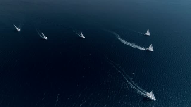 aerial view sailing yachts aerial view sailing yachts, regatta regatta stock videos & royalty-free footage