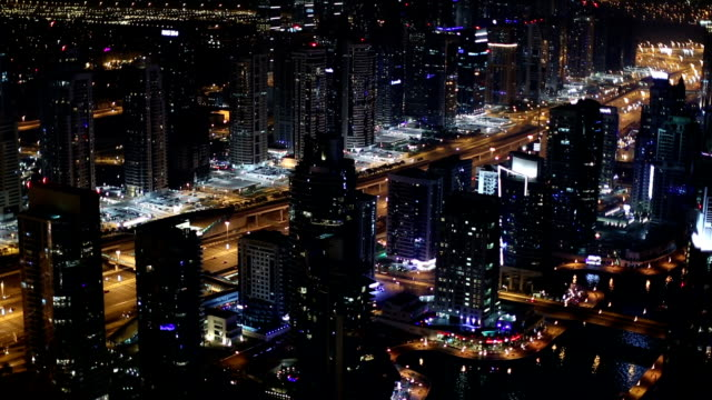 aerial view Sheikh Zayed Road with Dubai Marina video