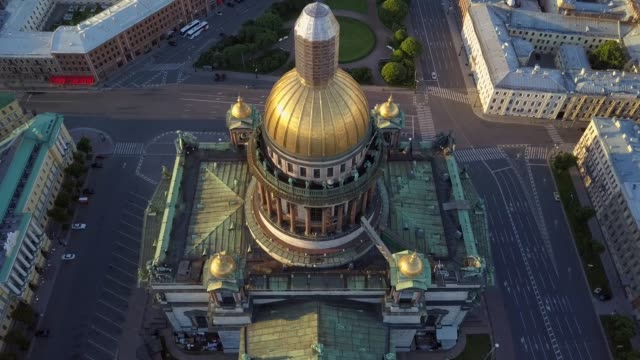 Aerial view. St. Petersburg. Isakiev Square, Isakievsky Cathedral