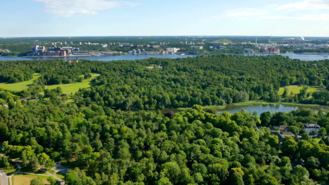 Aerial view, Stockholm, Sweden video