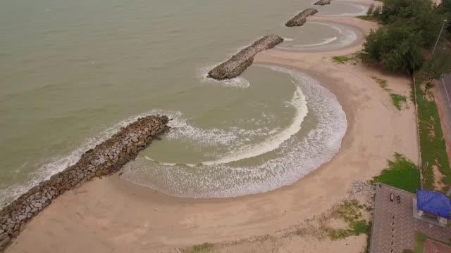 aerial view Suchada beach Rayong