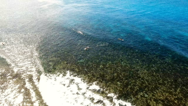 Aerial view surfers on the waves.Siargao, Philippines. Cloud 9 video