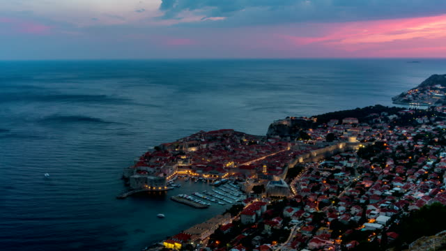 Aerial View Time Lapse of Dubrovnik, Croatia