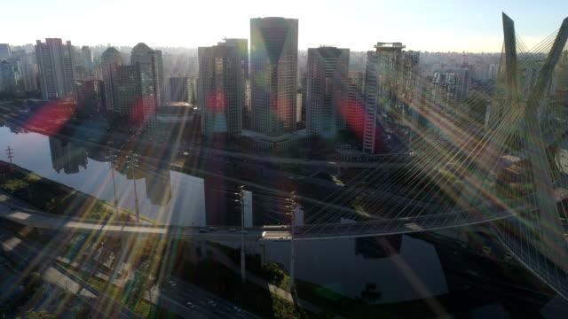 vídeos y material grabado en eventos de stock de aerial view to sao paulo - américa del sur