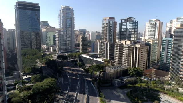 vídeos y material grabado en eventos de stock de aerial view to sao paulo - avenida