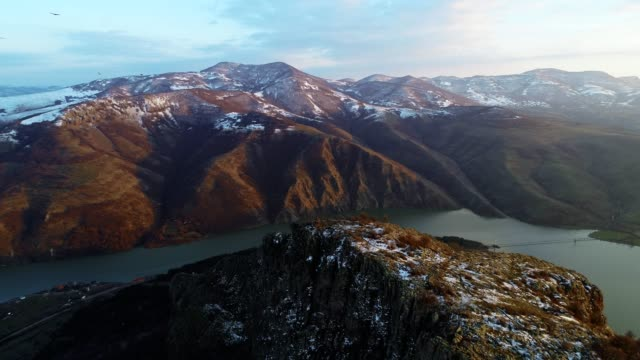 Aerial View, Tracking Shot of a Flying Vulture, Flying with Birds of Pray Along Beautiful Landscape of Fjords, Mountain hills Rising Up from the Water Surface, Seascape, Beauty in Nature, Travel Destinations, Adventure, Travel, Exploration, Sun Drone Point of View over Majestic Landscape View of a Remote Location Nature Scene, Bright Sunlight, Reflection in the Water, Horizon Over Water, Scenics-Nature, Mountain Range, Real Time, Water, Birds watching, Nesting birds, Panning shot, Tracking Shot eagle bird stock videos & royalty-free footage