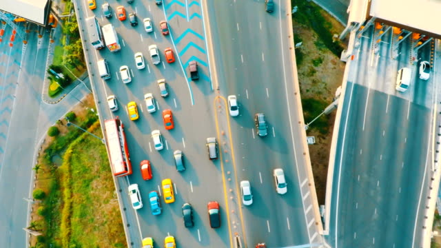 Aerial View Traffic above on Highway video