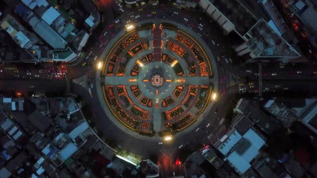 aerial view traffic circle - city abstract stock videos & royalty-free footage