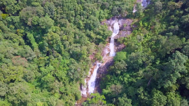 Aerial view Waterfall in nature video