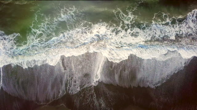 Aerial view waves on the Beach Aerial View, Island, Sea, Standing Water, Surf western usa stock videos & royalty-free footage