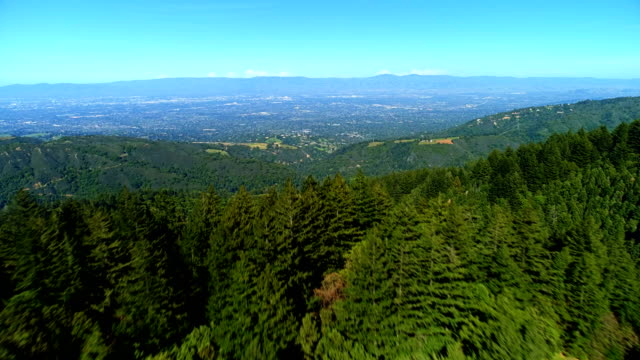 aerial views on silicon valley - california video stock e b–roll