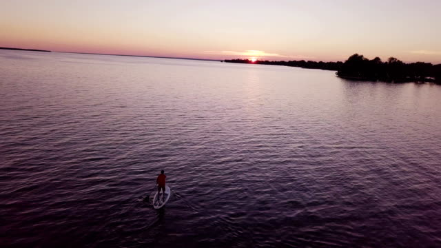 Aerial view:Sunset at Lake Simcoe, Canada Aerial view:Sunset at Lake Simcoe, Canada ontario canada stock videos & royalty-free footage