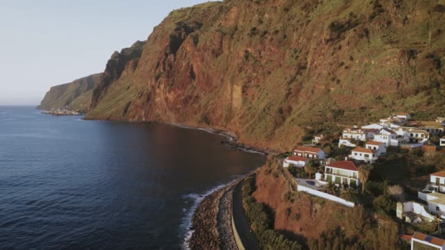 Aerial Village Jardim do Mar Madeira Island Aerial Village Jardim do Mar Madeira Island funchal stock videos & royalty-free footage