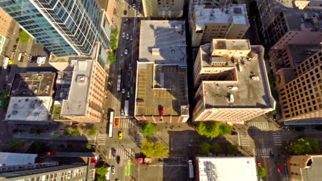 Aerial Washington Seattle Aerial video shot of downtown Seattle. seattle stock videos & royalty-free footage