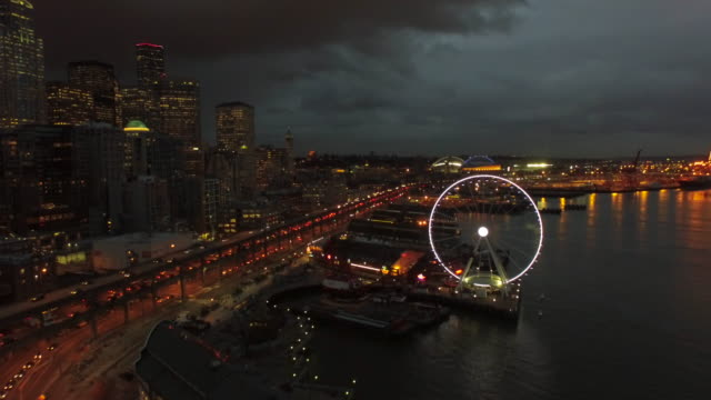 Aerial Washington Seattle Aerial video of downtown Seattle Washington. seattle stock videos & royalty-free footage
