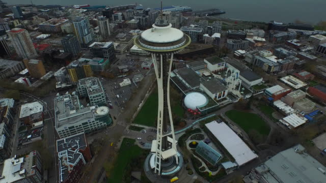 Aerial Washington Seattle video