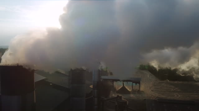 Aerial Working Industry aerial,smoke coal stock videos & royalty-free footage