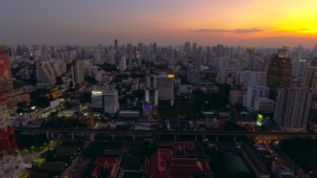 Aerial:Bangkok at night video