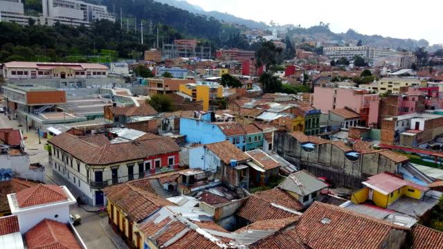 Vista aérea/Drone de Bogotá, Colombia 2 - vídeo