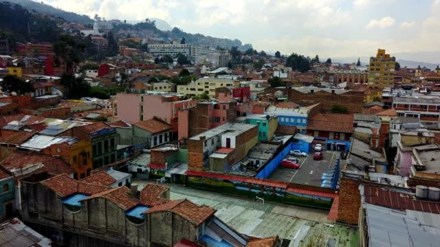 Vista aérea/Drone de 4 Bogotá, Colombia - vídeo