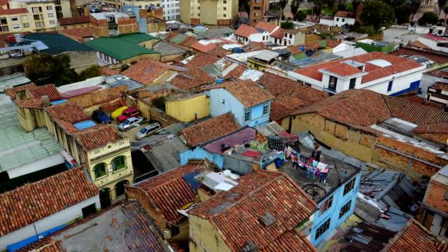Vista aérea/abejón del centro de Bogotá, Colombia 2 - vídeo