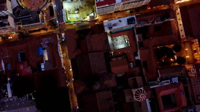 Vista aérea/abejón de la Plaza de Bolívar y La Candelaria, Bogotá, Colombia 9 - vídeo