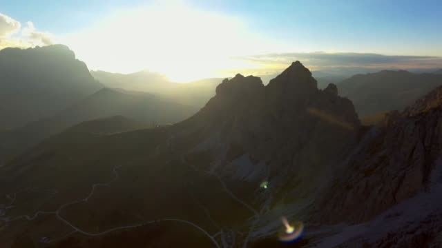 Aerial:Golden Hour of Mountains Rocks and Clouds aerial,mountain,cloud,sunset siberia stock videos & royalty-free footage