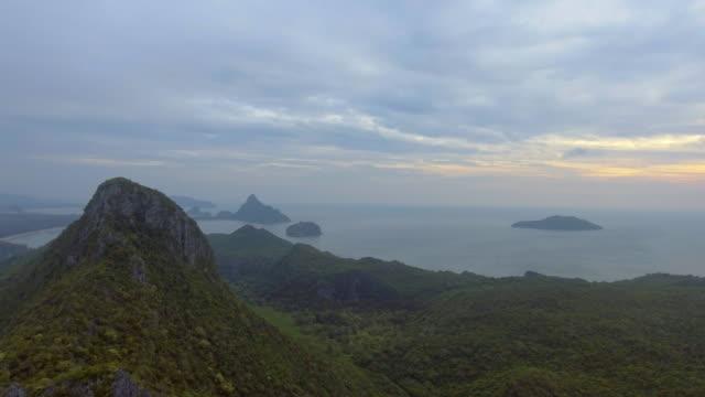 Aerial:Group of island thailand beach video