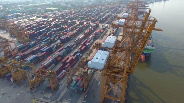 Aerial:Industrial Port video