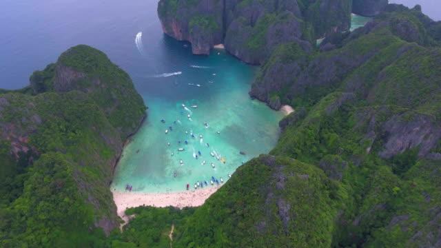 航空写真: マヤ ビーチ - 自然旅行点の映像素材/bロール