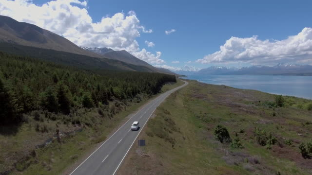 Aerial:Mt. Cook ,New Zealand video
