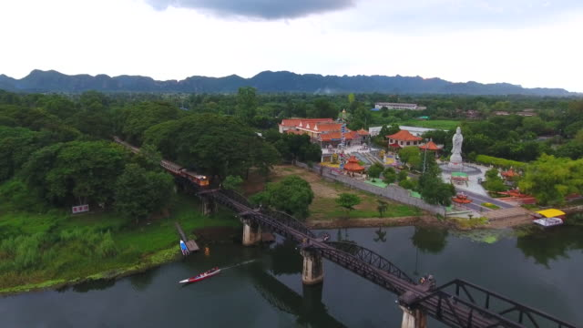 Aerial:Railway over the River video