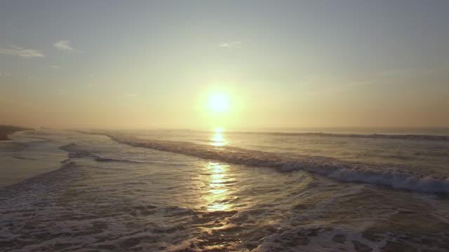 antenner på stranden i gryningen. odisha, indien. - sunrise bildbanksvideor och videomaterial från bakom kulisserna