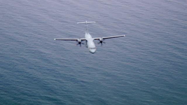 Aerials of the NAVY CASA CN-235M in flight. video